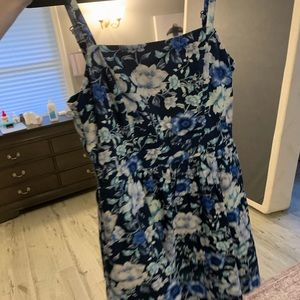 Small Fit and Flare Blue Dress Altar'd State